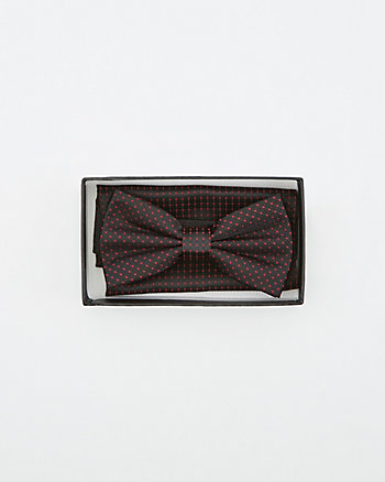 Dot Print Bow Tie & Pocket Square Set