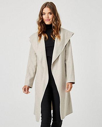Manteau portefeuille d'aspect cachemire