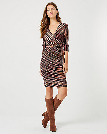 Check Print Wrap-Like Dress