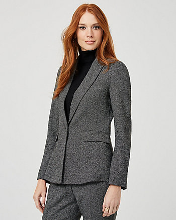 Ponte Knit Tailored Fit Blazer