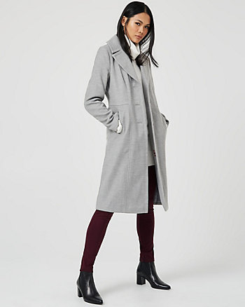 Cashmere-Like Notch Collar Coat