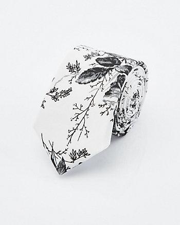 Floral Print Cotton Tie