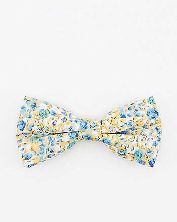 Floral Print Cotton Bow Tie