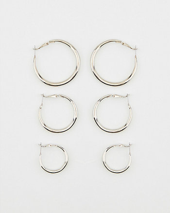 20/30/38mm Hoop Earrings Set