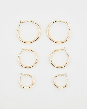 20/30/38mm Hoop Earrings Set