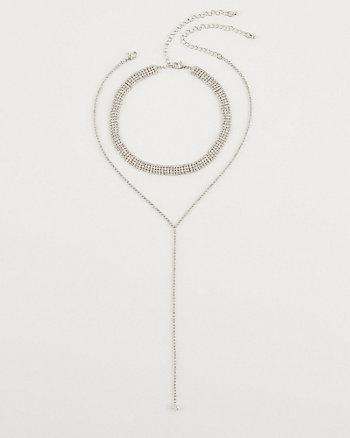 Gem Encrusted Choker Necklace Set
