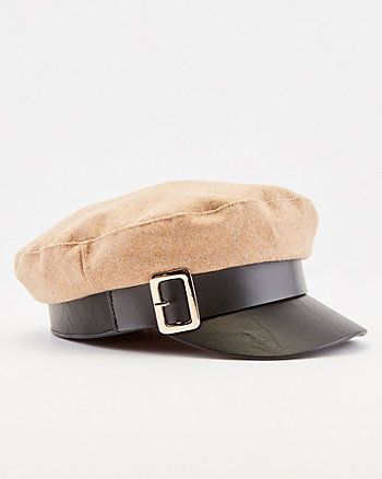 Woven Poor Boy Hat