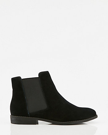 Leather Almond Toe Chelsea Boot