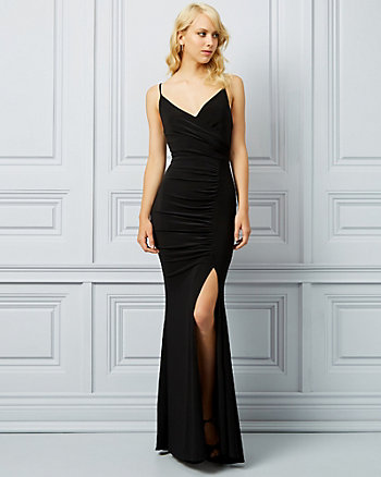 Knit Wrap-Like Gown