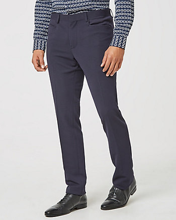 Quilted Knit Slim Leg Pant