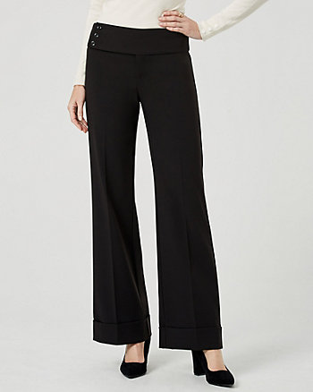 Bi-Stretch Flared Leg Pant