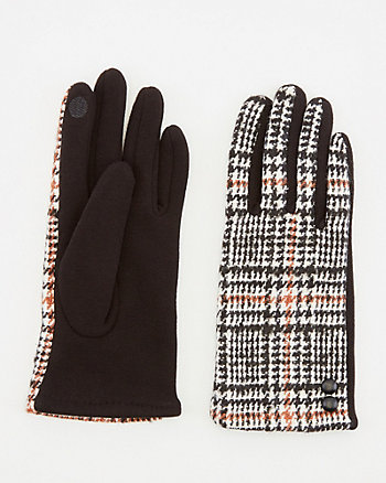 Check Print Touchscreen Gloves