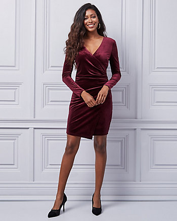 Velvet Wrap-Like Dress