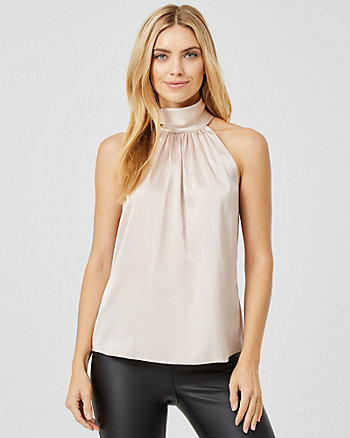 Satin Halter Neck Blouse