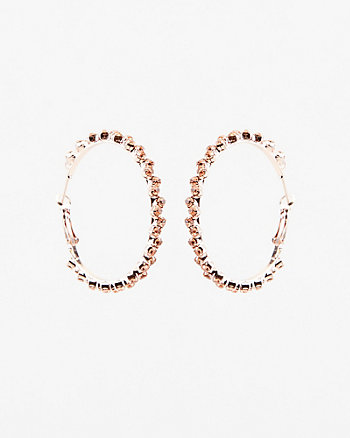 40mm Gem Encrusted Hoop Earrings