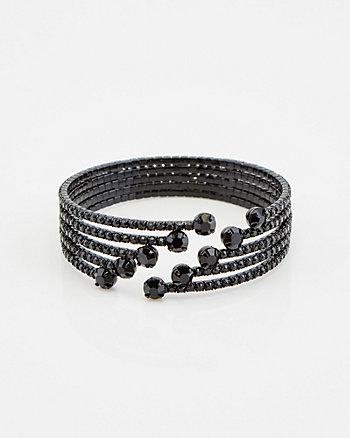 Gem Encrusted Open Cuff Bracelet