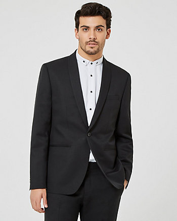 Mechanical Stretch Shawl Collar Blazer