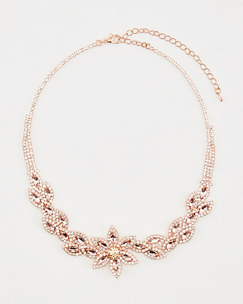 Gem Encrusted Flower Necklace