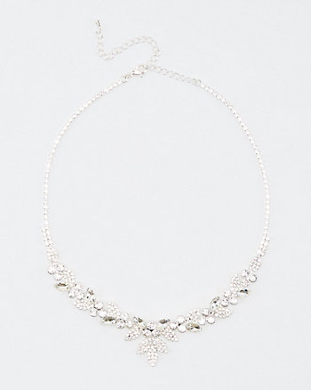 Floral Gem Encrusted Necklace