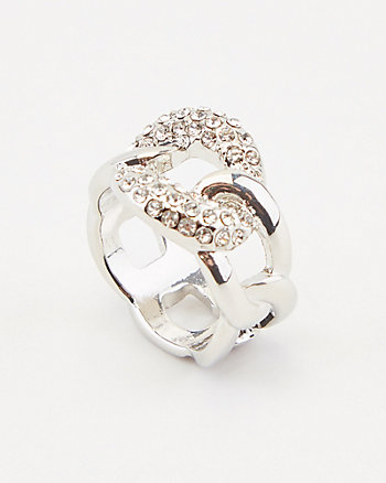 Gem Encrusted Chain Link Ring
