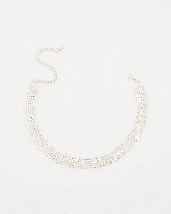 Gem Encrusted Choker Necklace