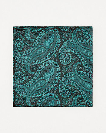 Tonal Paisley Print Pocket Square