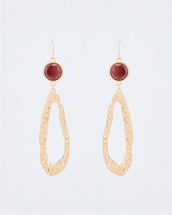 Stone & Metal Drop Earrings