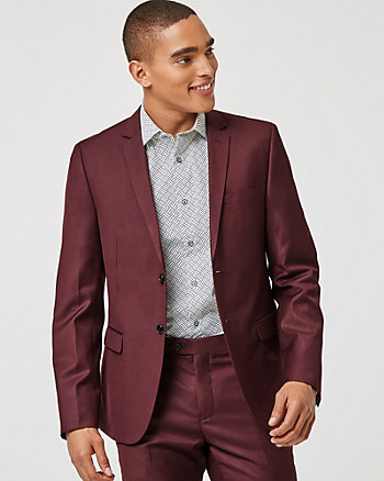 Viscose Blend Slim Fit Blazer