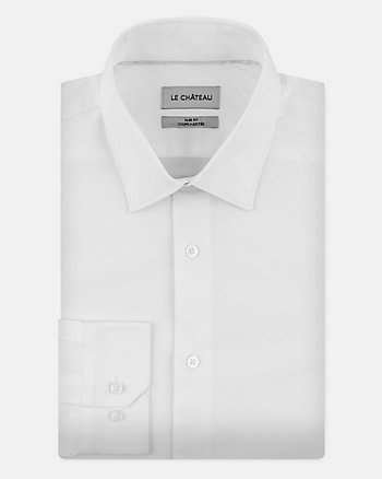Stretch Cotton Poplin Slim Fit Shirt