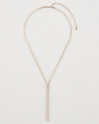 Gem Encrusted Fringe Necklace