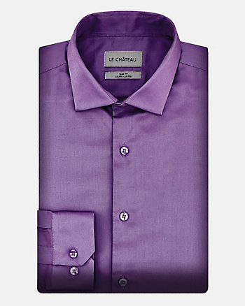 Stretch Cotton Sateen Slim Fit Shirt