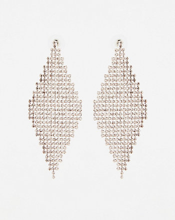 Gem Trapezoid Chandelier Earrings