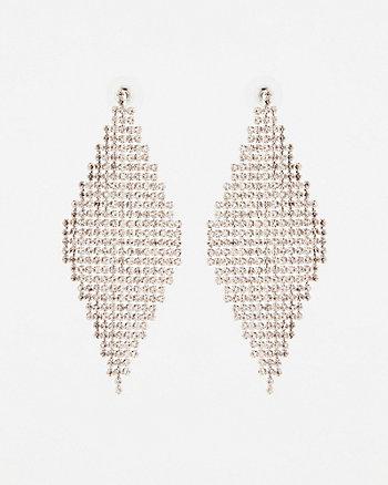 Pendants d'oreilles en forme de trapèze