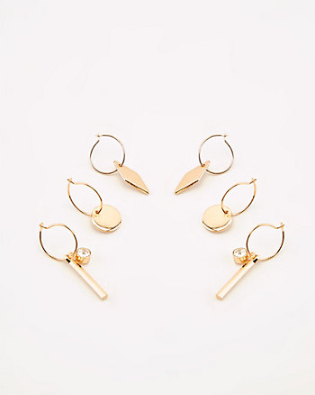 13mm Charm Hoop Earrings Set