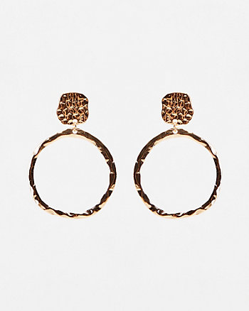 40mm Hammered Hoop Earrings
