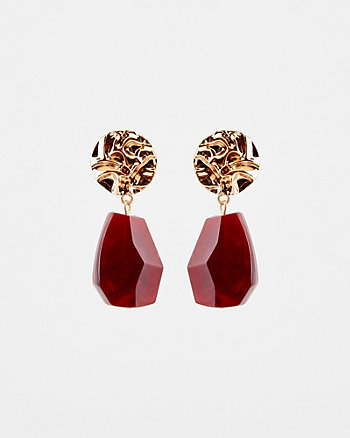 Gem & Metal Drop Earrings
