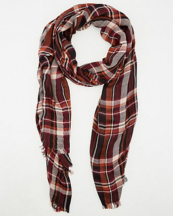 Check Print Viscose Scarf