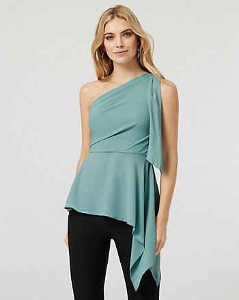 One Shoulder Asymmetrical Blouse