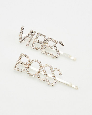 Boss & Vibes Hair Clips Set