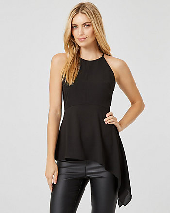 Asymmetrical Halter Neck Top