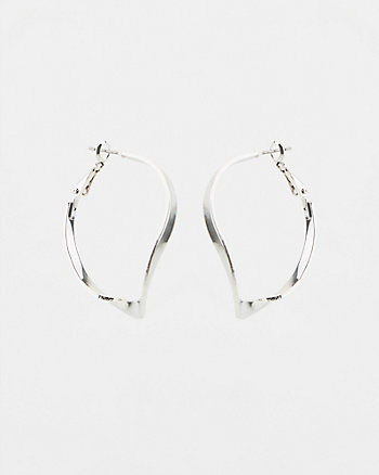 38mm Twist Hoop Earrings