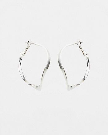 38mm Twist Hoop Earrings