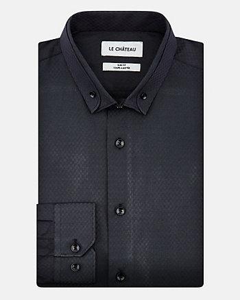 Chemise à motif en coton extensible
