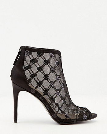 Sequin & Mesh Illusion Pump