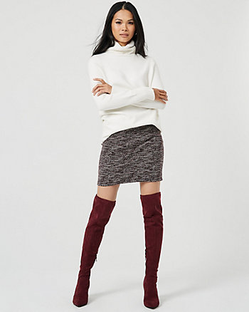 Bouclé Mini Skirt