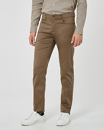 Pantalon à jambe étroite en satinette