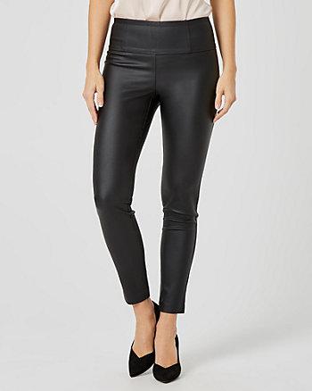 Pantalon en tissu extensible ciré