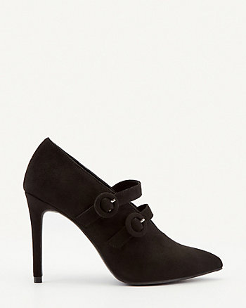 Faux Suede Pointy Toe Shootie