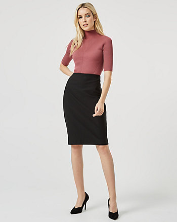 Tech Stretch Pencil Skirt