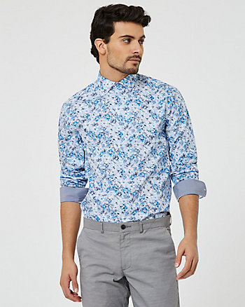 Floral Cotton Poplin Regular Fit Shirt